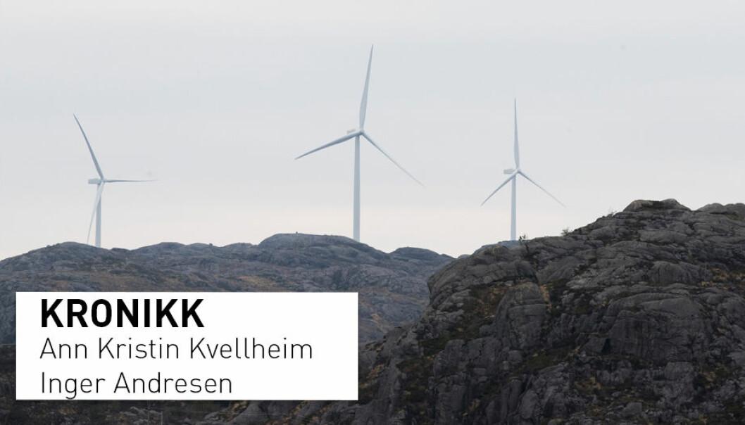 – Fokus på vindmøller – og for så vidt all annen energiproduksjon – bør være størst etter at energiforbruket er redusert med kostnadseffektive løsninger, skriver kronikkforfatterne. (Foto: Terje Pedersen / NTB scanpix)