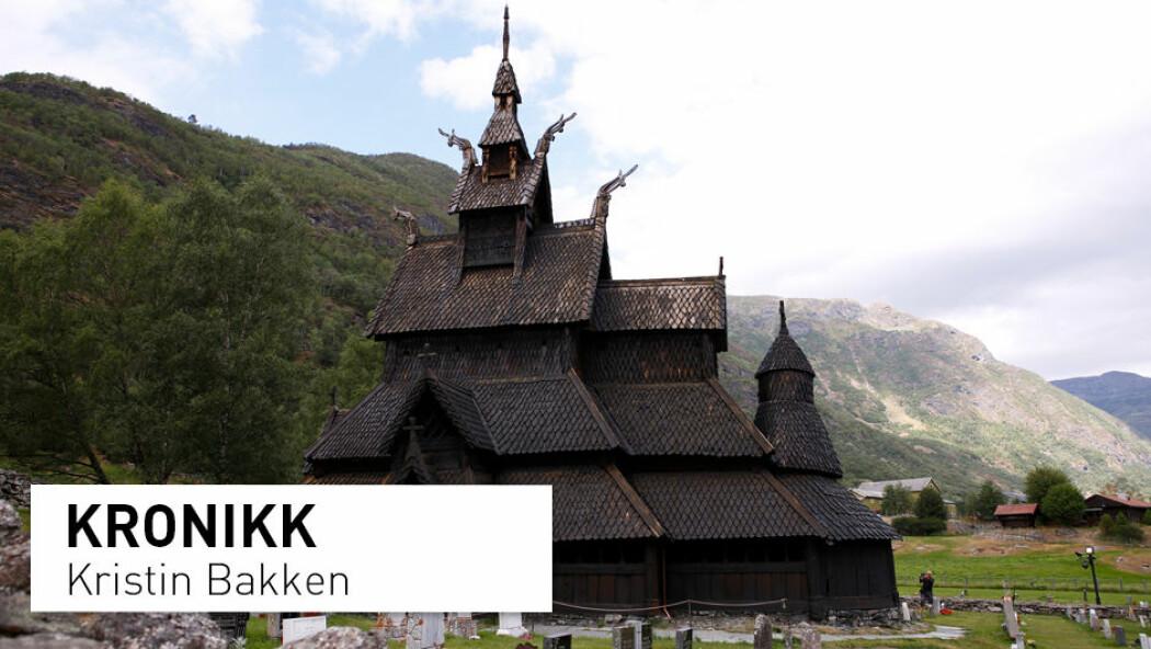 – Burde til dømes ikkje alle dei 28 norske stavkyrkjene og dei 160 steinkyrkjene vere grundig digitalt dokumenterte – ikkje berre for å sikre kjeldeverdiane, men også som bevaringsberedskap, spør kronikkforfattaren. (Foto av Borgund stavkyrkje i Lærdal: Foto: Marianne Løvland / NTB scanpix)