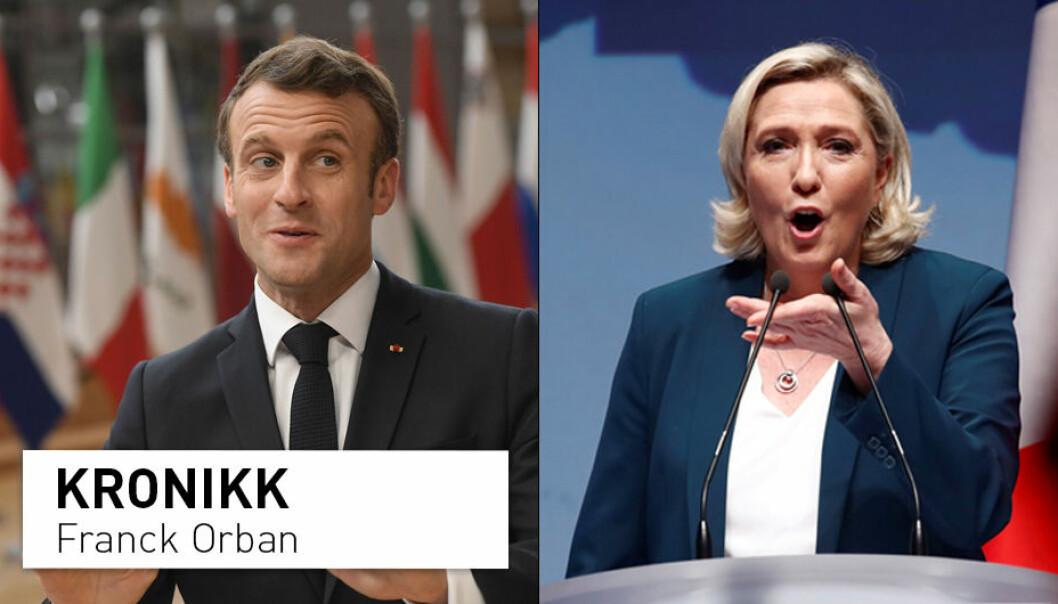 Er President Emmanuel Macron og Nasjonal Samlings leder Marine Le Pen de eneste reelle alternativene neste gang franskmennene skal velge en president? (Foto t.v.: Emmanuel Dunand / NTB Scanpix. Foto t.h.: Christian Hartmann / NTB Scanpix)