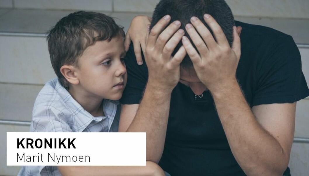 «Pål» er småbarnsfar og blir henvist til psykiatrisk utredning av fastlegen sin. Men henvisningen blir avvist. − Pål får bekreftet at han ikke kan hjelpes, skriver kronikkforfatteren. (Foto: Shutterstock / NTB Scanpix)