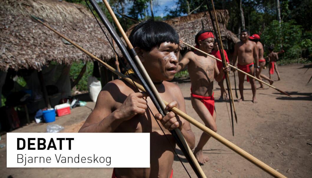 – At mennene<i> (i Yanomamö-stammen, red. anm.)</i> selv sier at det er kvinner som er mest verdifullt skal man ikke ignorere, men det betyr ikke at det alltid stemmer. Man skal heller ikke ignorere at andre, for eksempel forskere, kan oppdage andre grunner enn de folk selv legger vekt på, skriver innleggsforfatteren. (Foto: Ariana Cubillos / AP / NTB Scanpix)