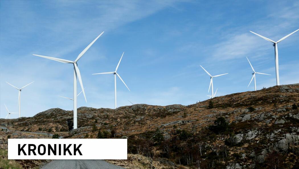– Energieffektivisering av bygningsmassen vil i stor grad redusere presset på utbygging av vindkraft, og med det konfliktene ved nye vindkraftprosjekter, skriver kronikkforfatterne. (Illustrasjonsfoto: Foto: Jan Kåre Ness / NTB scanpix)