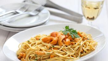 En ikke uvanlig kombinasjon er kråkebolle og pasta. (Foto: Shutterstock)