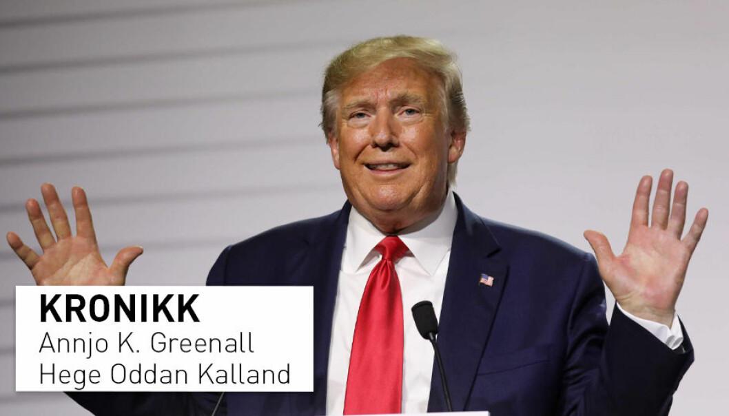 Mens VG mente at Donald Trump snakket om å gripe tak i kvinners underliv, sa han i følge Dagbladet at han kunne klå dem i skrittet. Oversettelser av Trump-uttalelser ser ut til å følge avisenes politiske ståsteder, mener kronikkforfatterne.