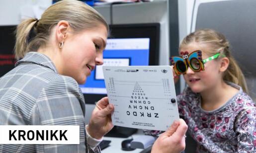 70 000 norske skolebarn kan ha uoppdagede synsproblemer