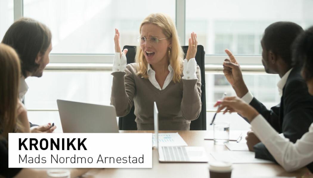 – Ledere som rettferdiggjør sin beslutning ved å vise til andre selskap, skaper mindre oppslutning og entusiasme hos de ansatte, skriver kronikkforfatteren. (Foto: Shutterstock / NTB Scanpix)