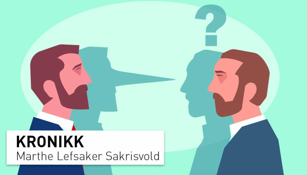 – Selv om vi ikke er der at vi har et godt svar på om for eksempel Per Orderud lyver eller ikke, så kan forskningen hjelpe oss å legge dårlige svar til side, skriver kronikkforfatteren. (Illustrasjon: FGC / Shutterstock / NTB scanpix)