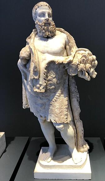 Den komiske Herkules i nasjonalmuseet i Roma. Dette er en romersk kopi av en gresk original. (Foto: Silvio Bär)