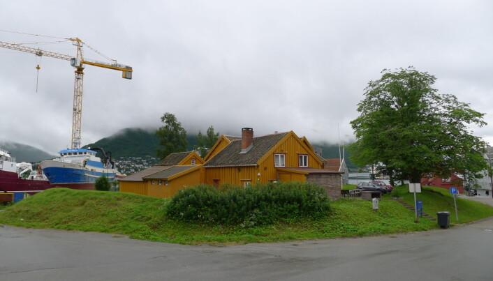 Her lå en gang Skansen. Klarer du å se restene av borgen? (Foto: Inge Sørgård)