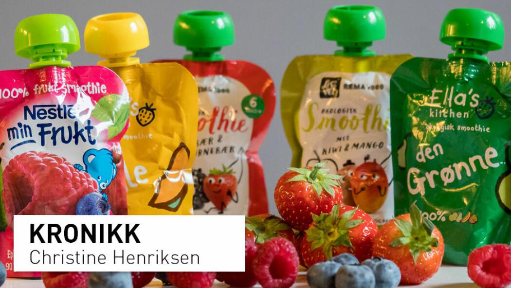 – Gi barna frukt og bær som de er. Det er sunt og godt, og barna får venner seg til mange ulike smaker og konsistenser, skriver kronikkforfatteren. (Foto: Elin Lunde / Universitetet i Oslo)