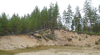 Ikke vind, men vann! Store sanddyner i innlandet er dannet av ekstremflommer