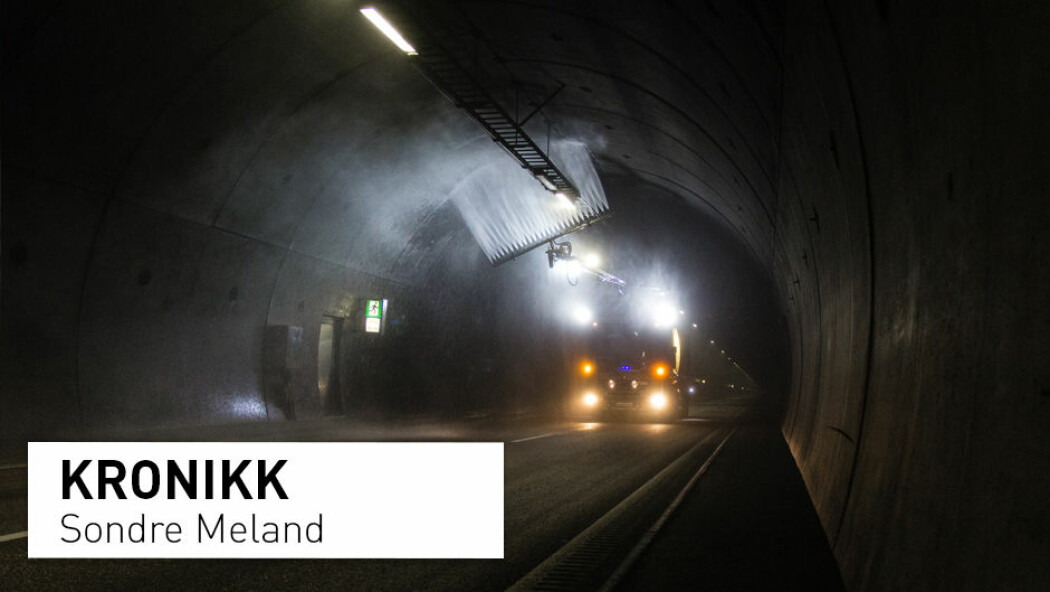 – Nå vet vi at tunnelvaskevann inneholder miljøgifter som er lite nedbrytbare og kan hope seg opp i næringskjeden. Og vi vet at tunnelene står der til «evig» tid. Da bør vaskevannet renses før det slippes ut, skriver Sondre Meland