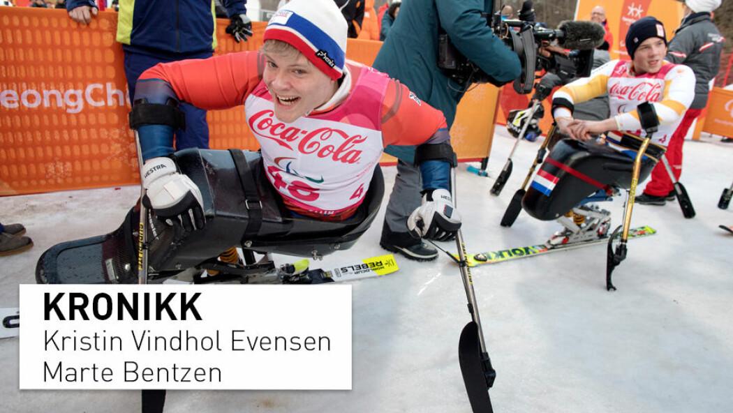 – Vi spør om ikke utøvere med funksjonshemming først og fremst er idrettsutøvere? skriver kronikkforfatterne. Jesper Saltvik Pedersen (til venstre) ble kåret til «Årets mannlige funksjonshemmede utøver» på Idrettsgallaen i 2019.