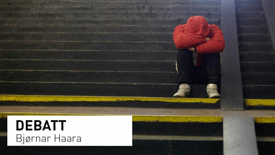 – Lidelse er forventet og forståelig for oss alle. Våre ubehagelige følelser hjelper oss å overleve. De er en naturlig respons på livsutfordringer, et isolerende og moraliserende individualistisk samfunn, og ikke minst uunngåelig i møte med sykdom, forfall og død, skriver Bjørnar Haara.