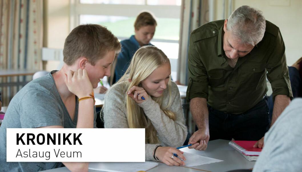 - Skulen, men også læreutdanningsinstitusjonane og forskarar, har eit stort ansvar for å sikre at vi i framtida lukkast med å utdanne meir kritiske samfunnsborgarar, skriv Aslaug Veum.