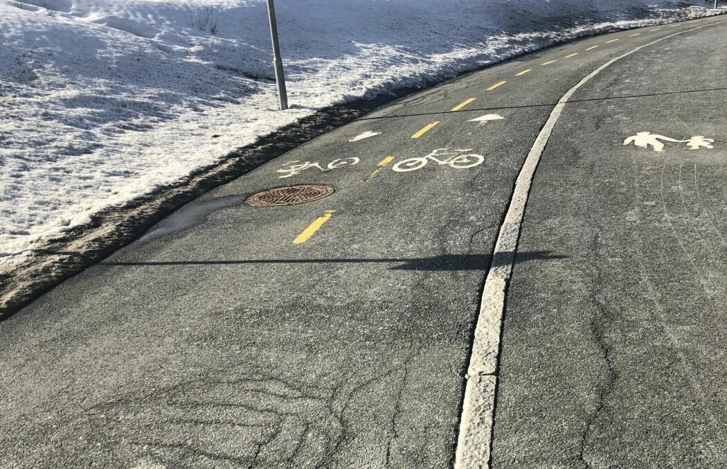 Kan forverringen av gang- og sykkelvegene skyldes salting om vinteren?