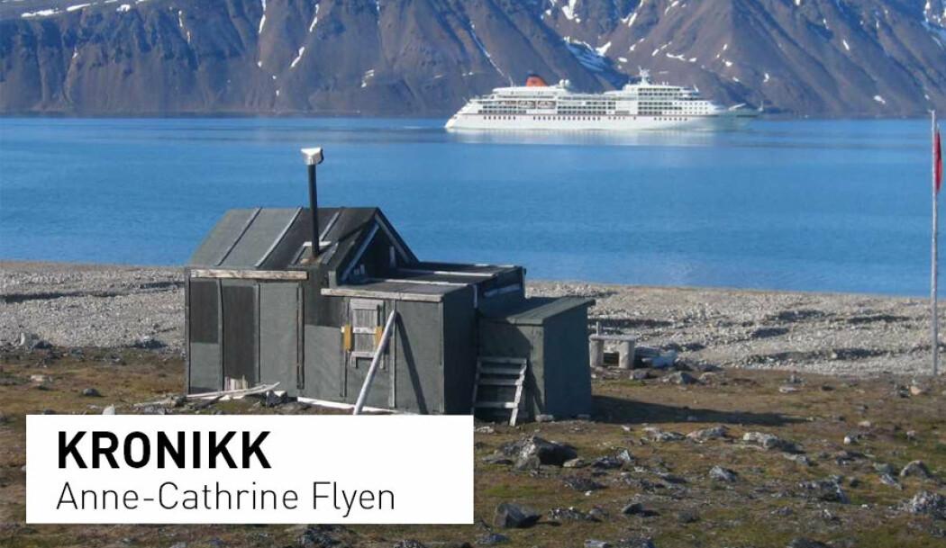 Fangshytta Camp Zoe i Krossfjorden på vestkysten av Spitsbergen. I dag er hytta fortsatt i god stand. Flere cruise-skip setter sine turister i land her, for å oppleve fangsthytta og gå turer i området. Samtidig er det en belastning på den sårbare vegetasjonen, på treverket i hytta og for dyrelivet når ivrige cruise-turister yrer i land fra de store skipene.