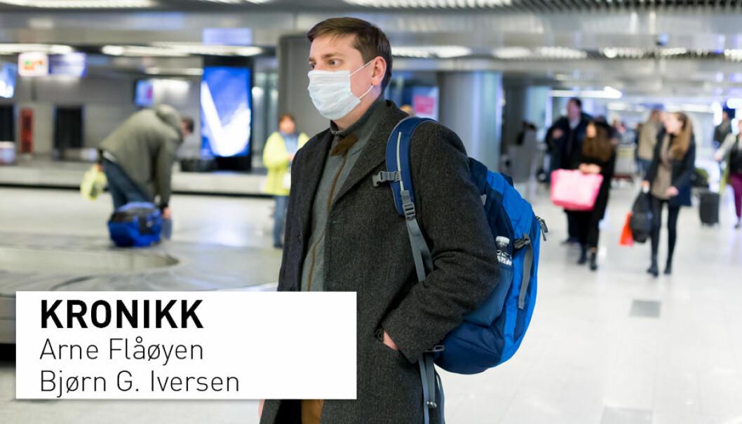 Mer reising øker risikoen for at folk skal kunne bli smittet med nye sykdommer, og det øker også risikoen for å bære med seg smittestoffer som kan spre seg videre når de kommer hjem, skriver Arne Flåøyen og Bjørn G. Iversen.
