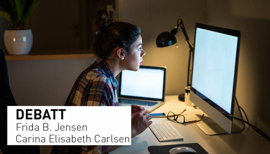 Vi mener forskning.no og NMBU med en slik artikkel sender usunne signaler i en tid som allerede er vanskelig, skriver Frida B. Jensen og Carina Elisabeth Carlsen.