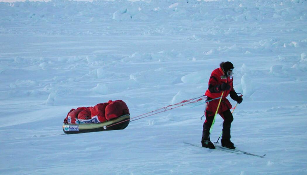 Hvor mye påvirket isen i Polhavet Børge Ousland og Mike Horns ekspedisjon? Bildet er fra en tidligere ekspedisjon.