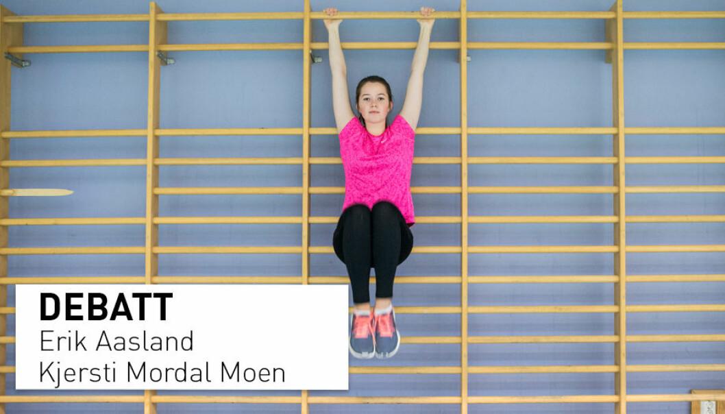Kompetanse i kroppsøving handler om å vise innsats, samspille med andre, og det å kunne øve og delta i ulike aktiviteter og naturferdsel. Det passer ikke med eksamensformen som foreslås, skriver Erik Aasland og Kjersti Mordal Moen.