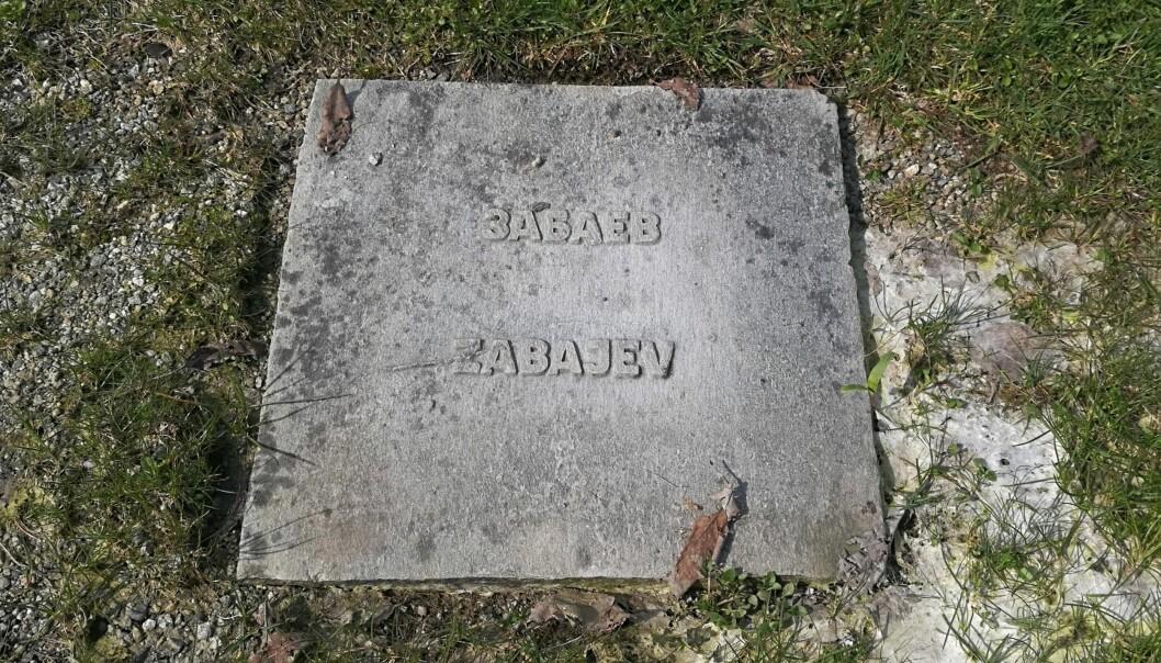 Zandzji Zabajev ligger gravlagd på Gravdalspollen gravplass i Bergen.