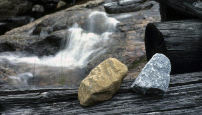 Kalkstein som ble brukt i Gjerstad.