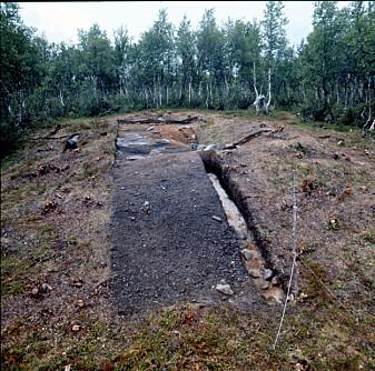 Jernframstillingsanlegg, under utgraving. Møsstrond, Telemark.
