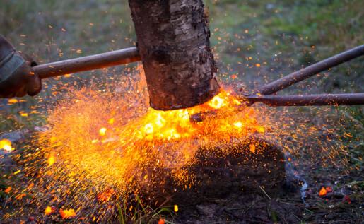 I vikingtida stod innlandet for ein enorm jernproduksjon