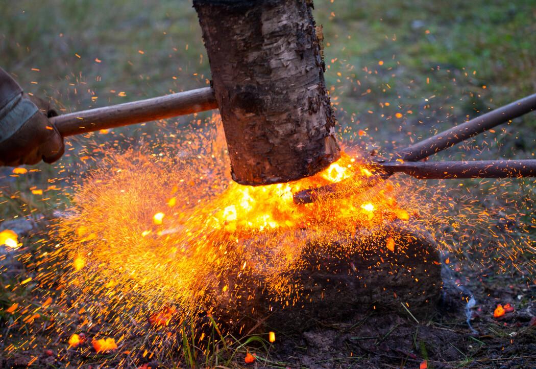 Frå eksperimentell jernframstilling.