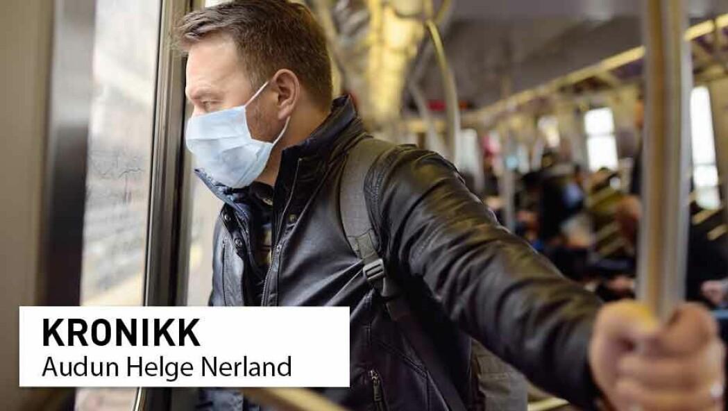 Norske helsemyndigheter har hevdet at bruk av munnbind bare gir en smittereduserende effekt på 40 prosent. Hvor kommer dette tallet fra? spør kronikkforfatteren.