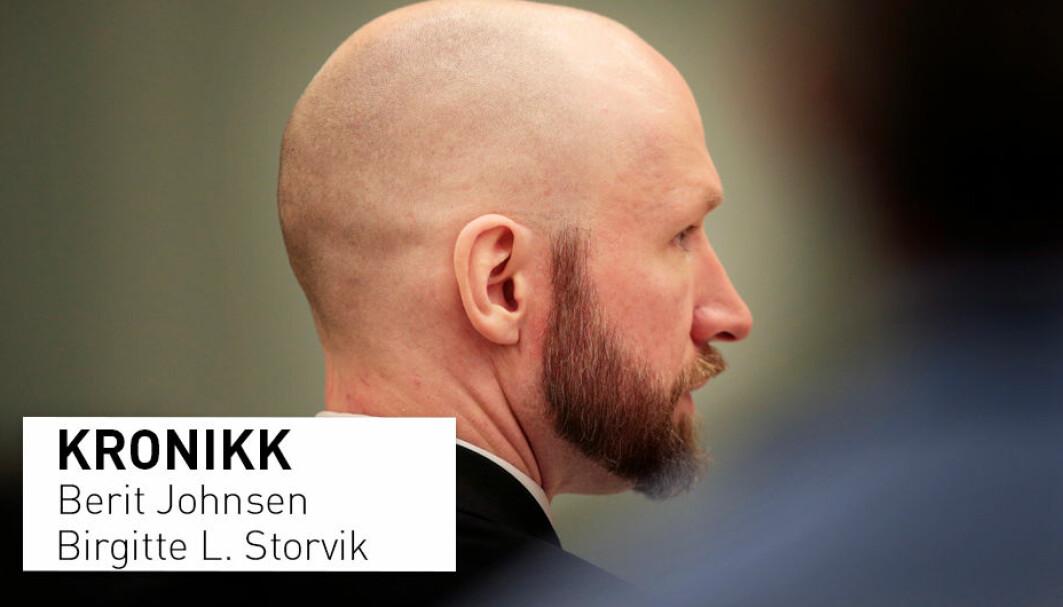 – Endringer i loven om forvaring kan bidra til at Anders Behring Breivik holdes i fengsel. Men vil vi lage en lov hvor vi kan være helt sikre på at han aldri slipper ut? Hva vil da skje med andre som er dømt til forvaring, for eksempel de som var barn da de ble dømt? spør kronikkforfatterne.