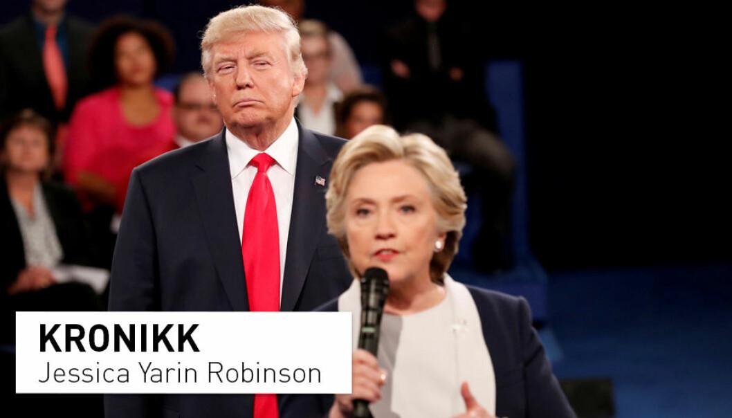 – I likhet med russiske kontoer oppfordret skandinaviske brukere velgere til å velge den ene eller andre kandidaten, eventuelt en tredje kandidat. De brukte emneknaggene #MAGA og #ImWithHer. Noen ganger tvitret de om valget på skandinaviske språk, oftere på engelsk. De retvitret nyheter – også falske nyheter, skriver Jessica Yarin Robinson.