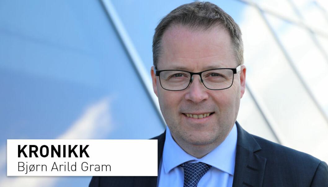– Kommunene har overtatt stadig flere oppgaver fra spesialisthelsetjenesten, uten at det samtidig ble overført forskningsmidler tilsvarende oppgavene, skriver Bjørn Arild Gram, styreleder i KS, kommunesektorens organisasjon.