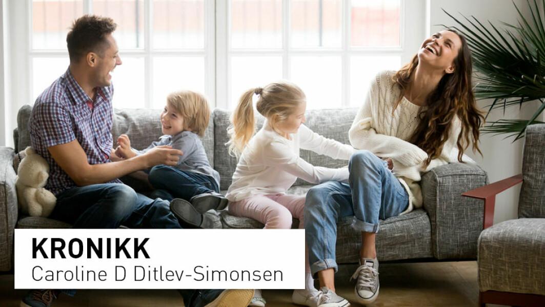 – Det viktigste elementet i lykke for nordmenn er sosiale forhold som inkluderer familie, barn, venner og kjærlighet, skriver Caroline D Ditlev-Simonsen.