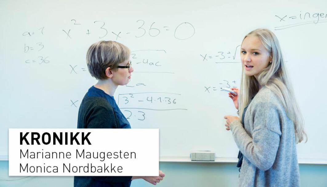 For å oppnå forståelsen som dybdelæring innebærer, skal elevene samarbeide og samtale i matematikkfaget. I vår, og kanskje også din skolegang, var dette utenkelig. Da var matematikkfaget «den stille timens fag», skriver Marianne Maugesten og Monica Nordbakke.