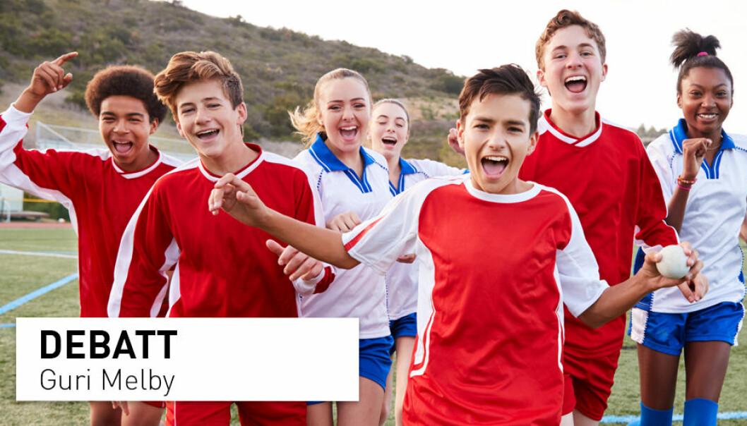 Ulike aktiviteter, lek og øving står sentralt i kroppsøving, men det skal og vil fortsatt være plass til mange typiske idrettsaktiviteter i faget, skriver Guri Melby.