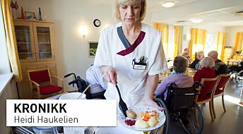 Krise i norsk eldreomsorg: «Jeg tissa ikke en eneste gang på hele vakta. Jeg pressa ned en karbonade uten å sette meg, bare for energiens skyld, mens jeg planla neste steg»