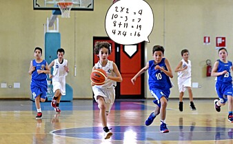 Matematikk kombinert med basketball øker lysten til å lære
