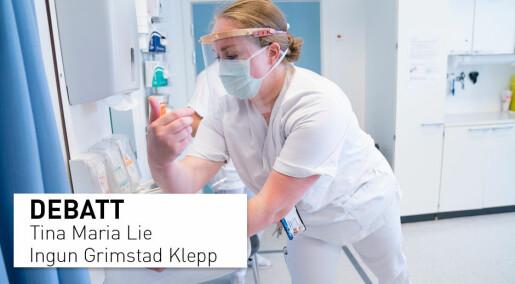 Helsearbeideres erfaringer med daglig bruk av munnbind: Hudproblemer, hodepine, tung pust, kløe og smerter