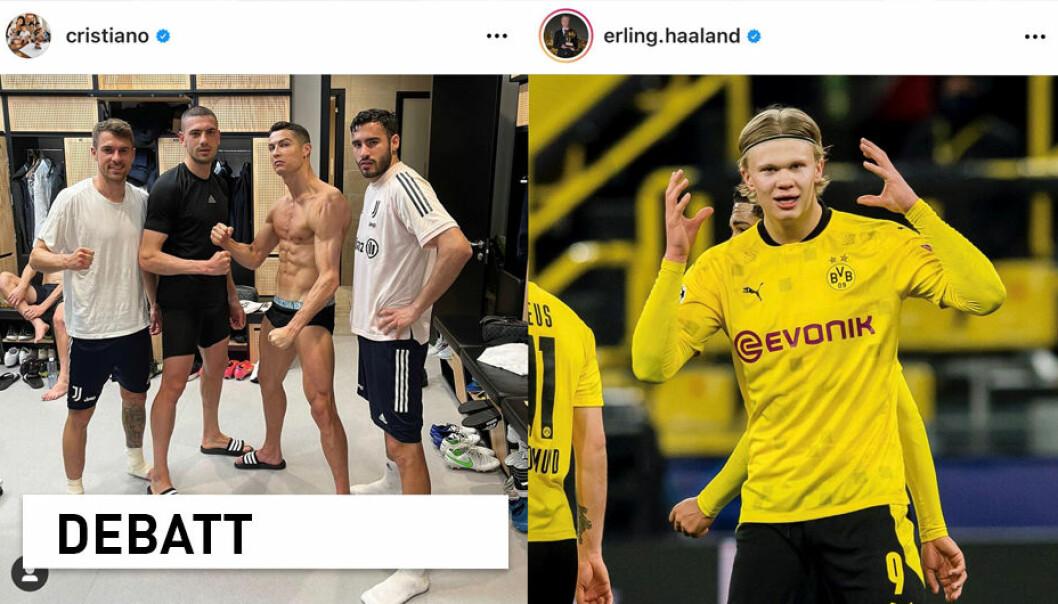 Nylig kunne vi lese på NRK at hvert bilde Erling Braut Haaland legger ut på Instagram krever like mye strøm som å varme opp en norsk husstand i flere uker, og at Ronaldo har brukt nesten like mye strøm som Rjukan til å spre sine 3042 selfier. Men stemmer det?