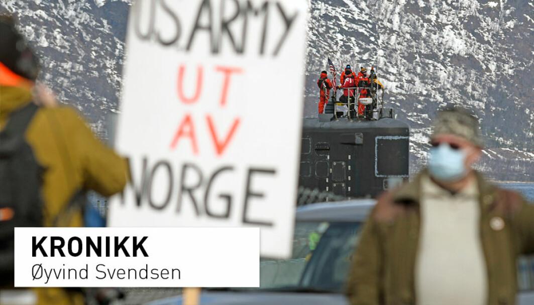 Mange har protestert mot at den amerikanske atomubåten USS New Mexico skulle besøke Tromsø. En spørreundersøkelse om nordmenns holdninger til norsk sikkerhetspolitikk tyder på at vi ønsker lav spenning. NUPI-forsker Øyvind Svendsen spør om det norske folk vil endre mening og ta til seg den nye kalde krigens logikk.