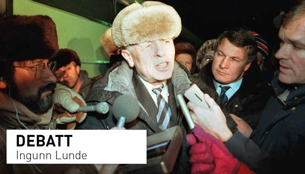 Den sovjetiske dissidenten Andrej Sakharov mottok Nobels fredspris for sitt arbeid med menneskerettigheter. I år markeres 100-årsjubileet for hans fødsel, men en jubileumsutstilling i Moskva går ikke helt etter planen, skriver professor Ingunn Lunde. Her fra hans retur til Moskva i 1986 etter syv år i eksil.