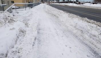 Gang- og sykkelveg med vinterveg-standard på Moholt.