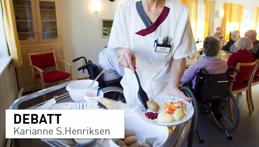 Det er en helsemessig dårlig idé av Oslo kommune å kutte kjøttinntaket blant de eldre på sykehjem, skriver innsenderen.
