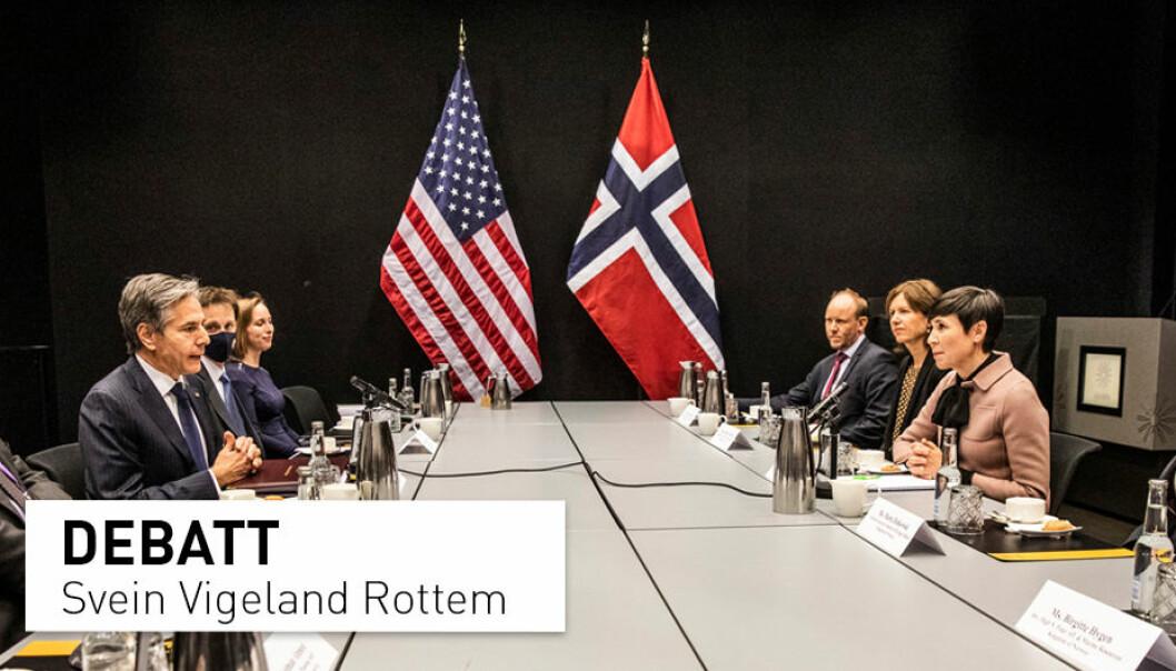 USAs utenriksminister Antony Blinken og utenriksminister Ine Eriksen Søreide benyttet ministermøtet i Arktisk råd til å gjennomføre sitt første møte siden Blinken tiltrådte.
