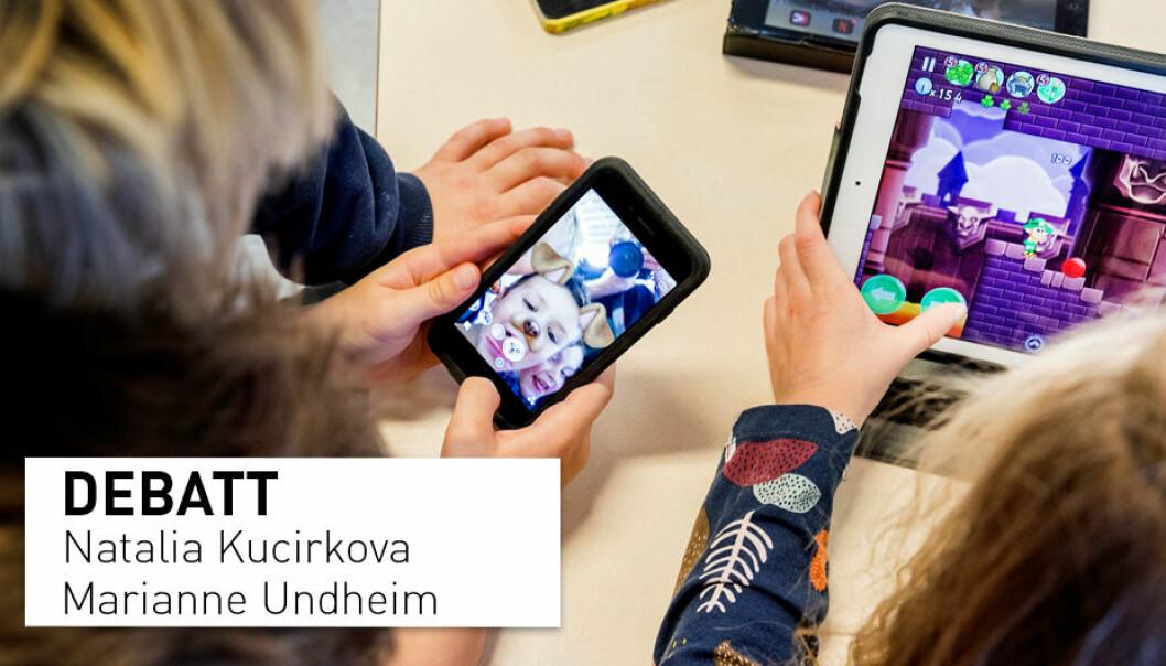 Skjermer og annen digital teknologi er en sentral del av barn og unges hverdag i dag, og de kommer ikke til å forsvinne. Så istedenfor å sette søkelys på skjermtida, vil det være mer konstruktivt å heller fokusere på innholdet.