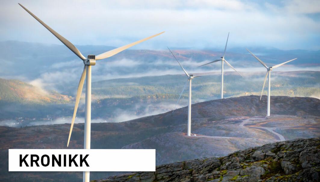 Bioenergi er foreløpig den største fornybare energikilden i EU. Dersom vi fjerner vi bioenergi som løsning, vil vi blant annet trenge mer utbygging av vindkraft, skriver forskere ved NMBU. Her fra Storheia vindpark i Fosen.