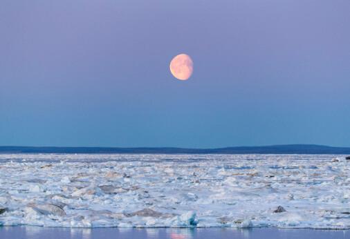 Overraskende funn:Månen bidrar til utslipp av metangass i havet