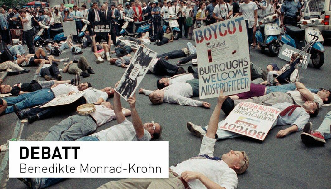 I september 1989 la demonstranter seg ned foran børsen i New York for å protestere mot de høye prisene på AIDS-medisiner som førte til at mange ikke fikk mulighet til livreddende behandling. Trenger vi liknende protester for at ME-syke skal få behandling i dag?